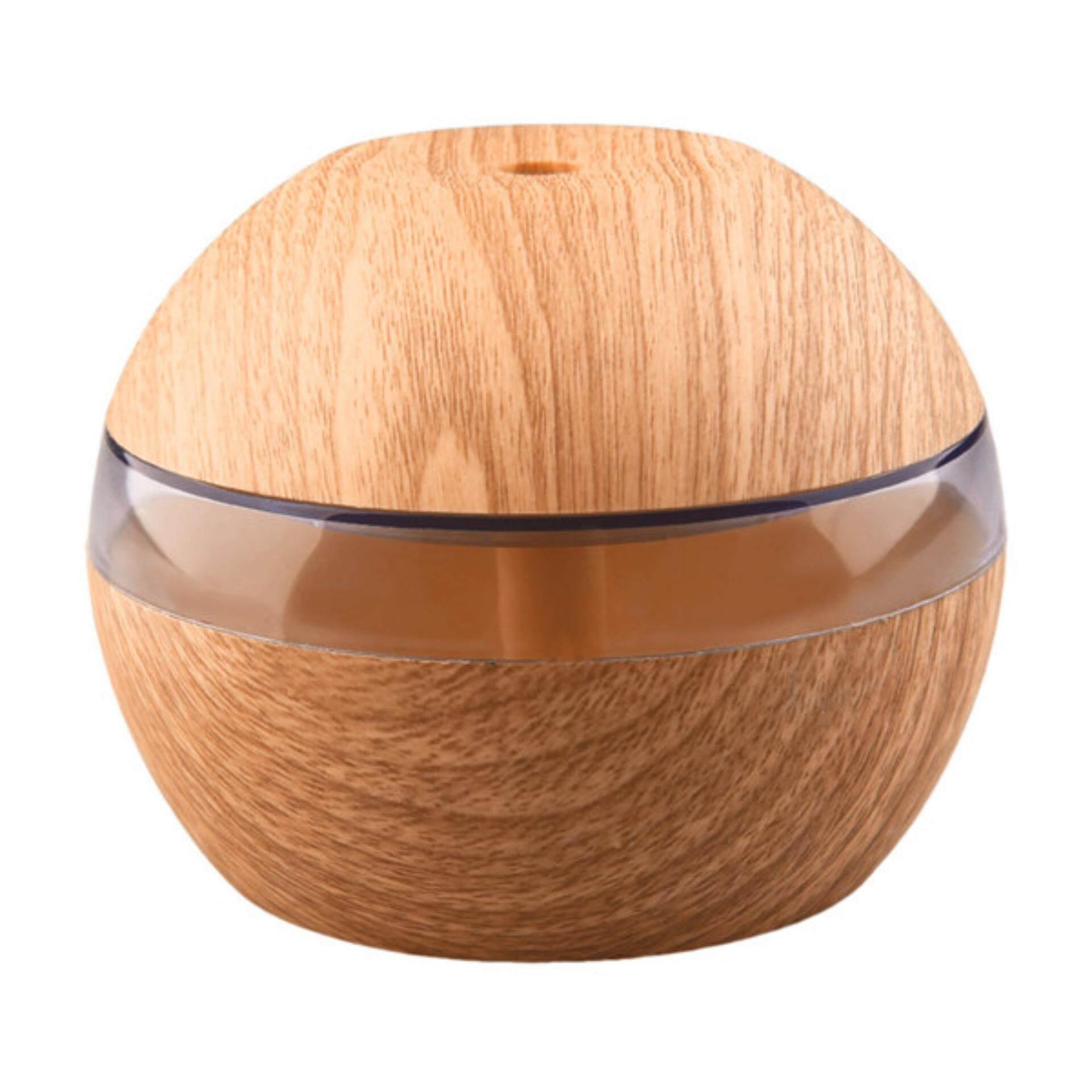 Mini Portable Mist Maker Aroma Essential Oil Diffuser Ultrasonic Aroma Humidifier Light Wooden USB Diffuser