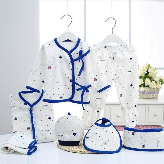 b4263d1a1 7PCS/Newborn Baby Set 0-3M new Infant Clothing suit newborn cotton new born  baby boy girl clothes winter Autumn unisex outfit | Lazada Singapore