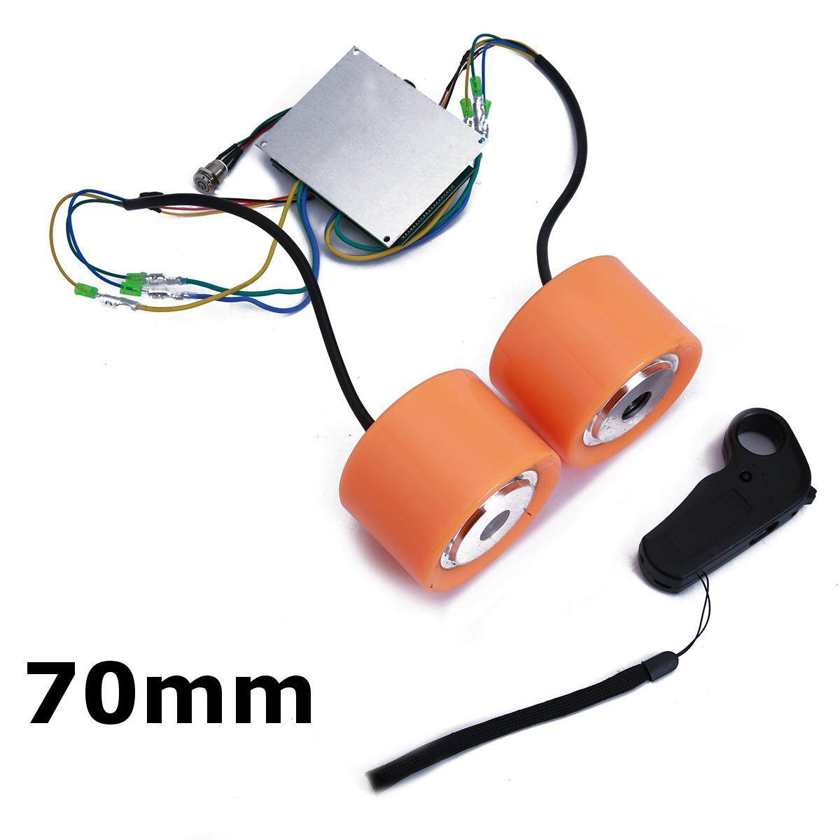 70mm Double-drive Electric Skateboard Brushless Wheel Hub Motor Controller