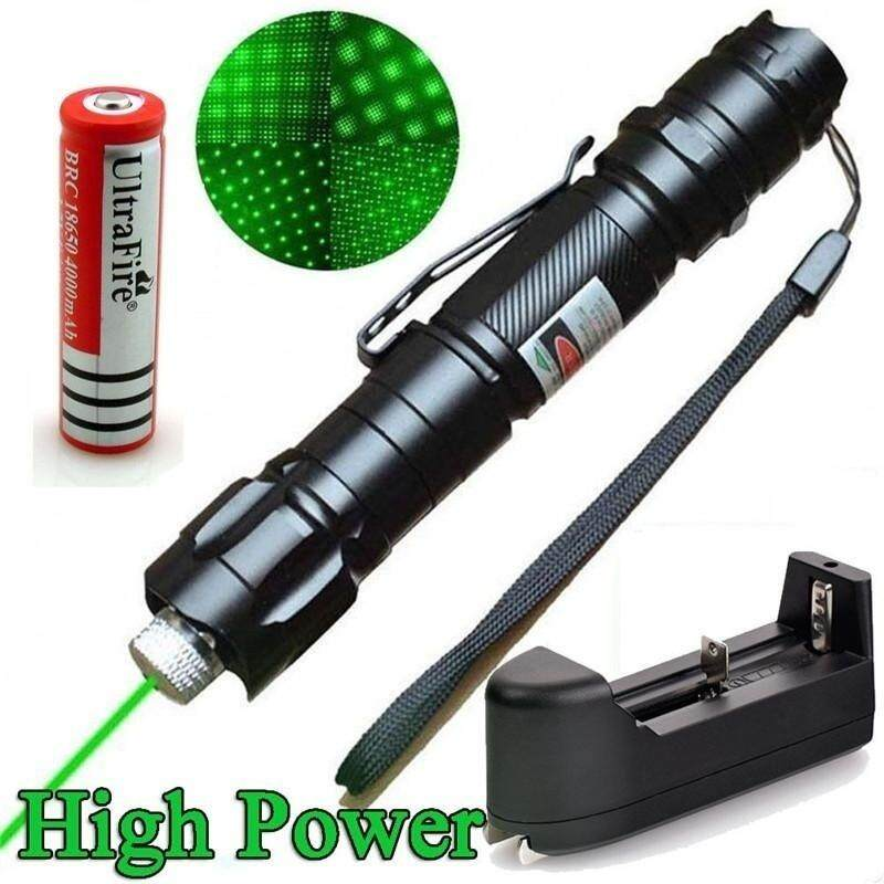 5 miles Powerful Green Laser Pointer Pen Beam Light 5mW Lazer High Power 532nm (Size: One Size) - intl