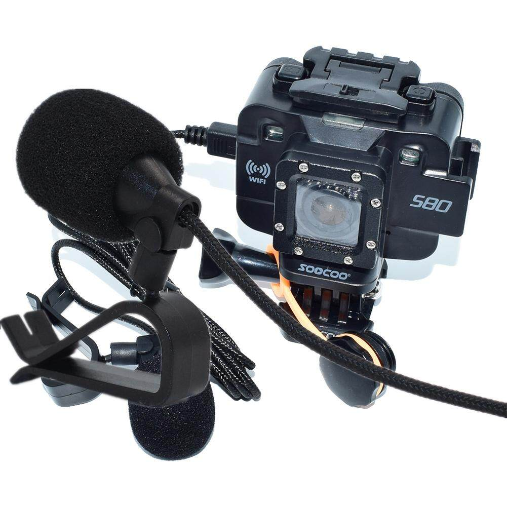 External Microphone For SOOCOO S300 Action Camera Voice Reception Recording