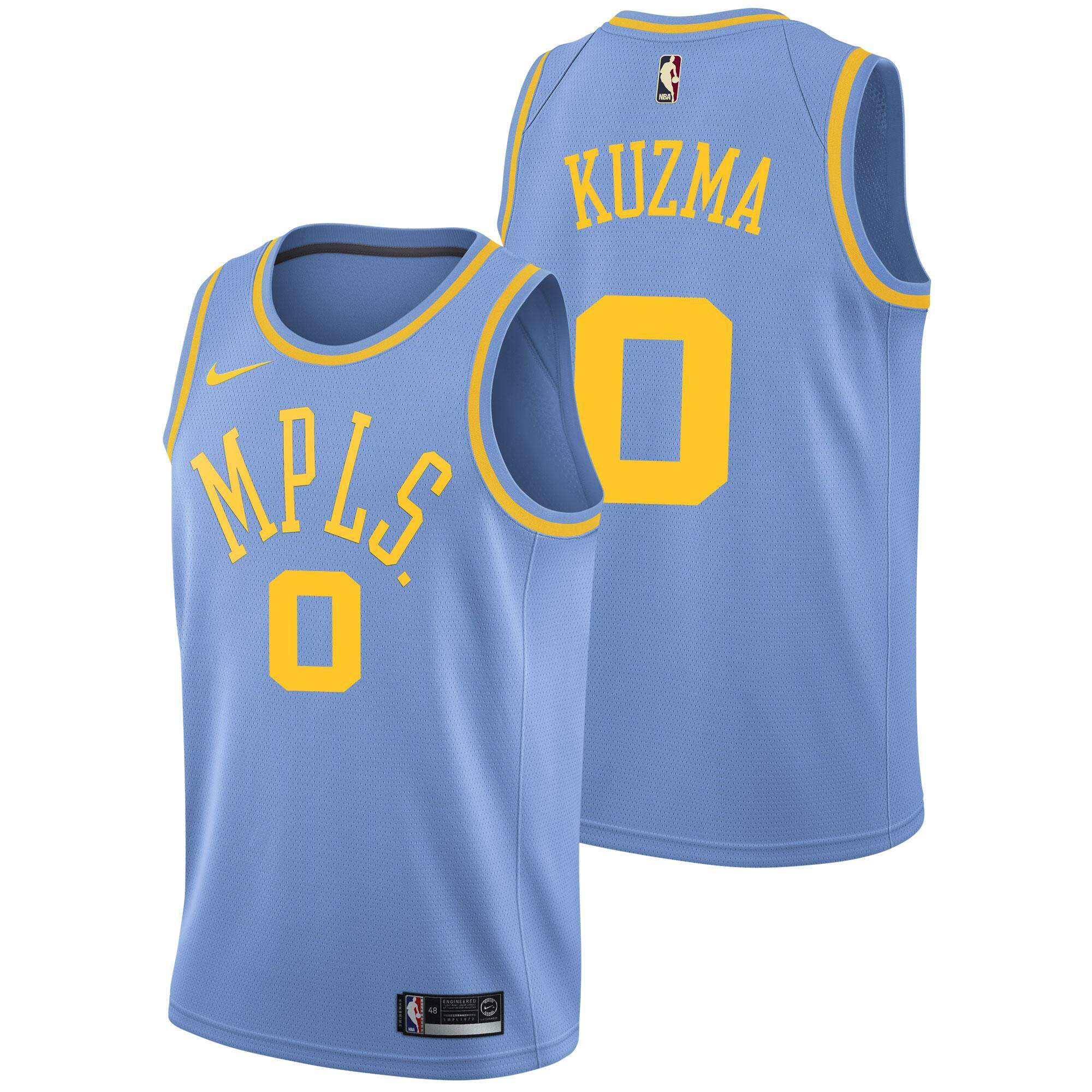 newest 2196c 203fb 2019 Genuine NBA Swingman Jersey For Male Lakers Kyle Kuzma Num 0  Basketball Clothes Dry Fast Official Adult Size small White Association  Edition