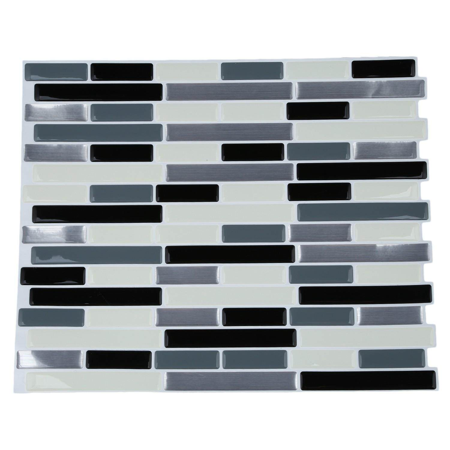 3D Tile Mosaic Pattern Wallpaper Modern Wall Background LivingRoom Kitchen DecorPattern:#10 235Mm X285mm X1mm