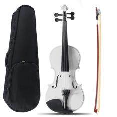New Portable 1/2 Natural Acoustic Violin Fiddle with Bow Rosin Carry Case – intl
