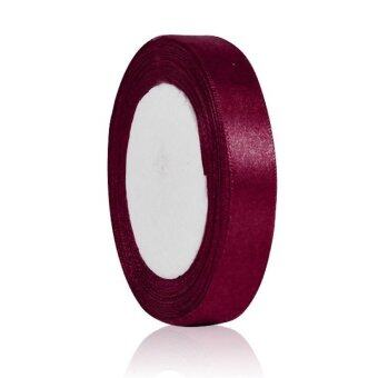 "1 Roll 25 Yards Satin Ribbon Crafts Sewing Wedding Party Supplies 15mm 5/8"" Width Wine"