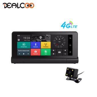 Dealcoo 7' 4G Car DVR Recorder Camera ADAS GPS Navigator Remote Monitor Smart Android 5.1 Bluetooth Dual Lens 1080P Dash cam