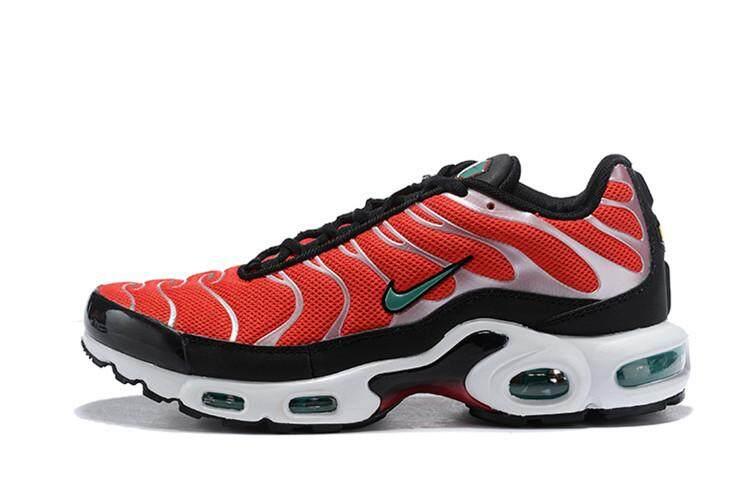 ยี่ห้อไหนดี  สุพรรณบุรี Nike_Original Air_Max_Plus TN Low Top MEN Global Sales Running Shoe ( Black White )
