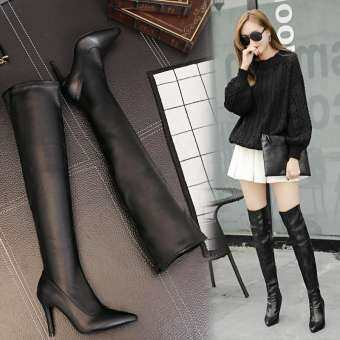 2020 Winter Europe Women Point knee high BOOTS SEXY SHOE New