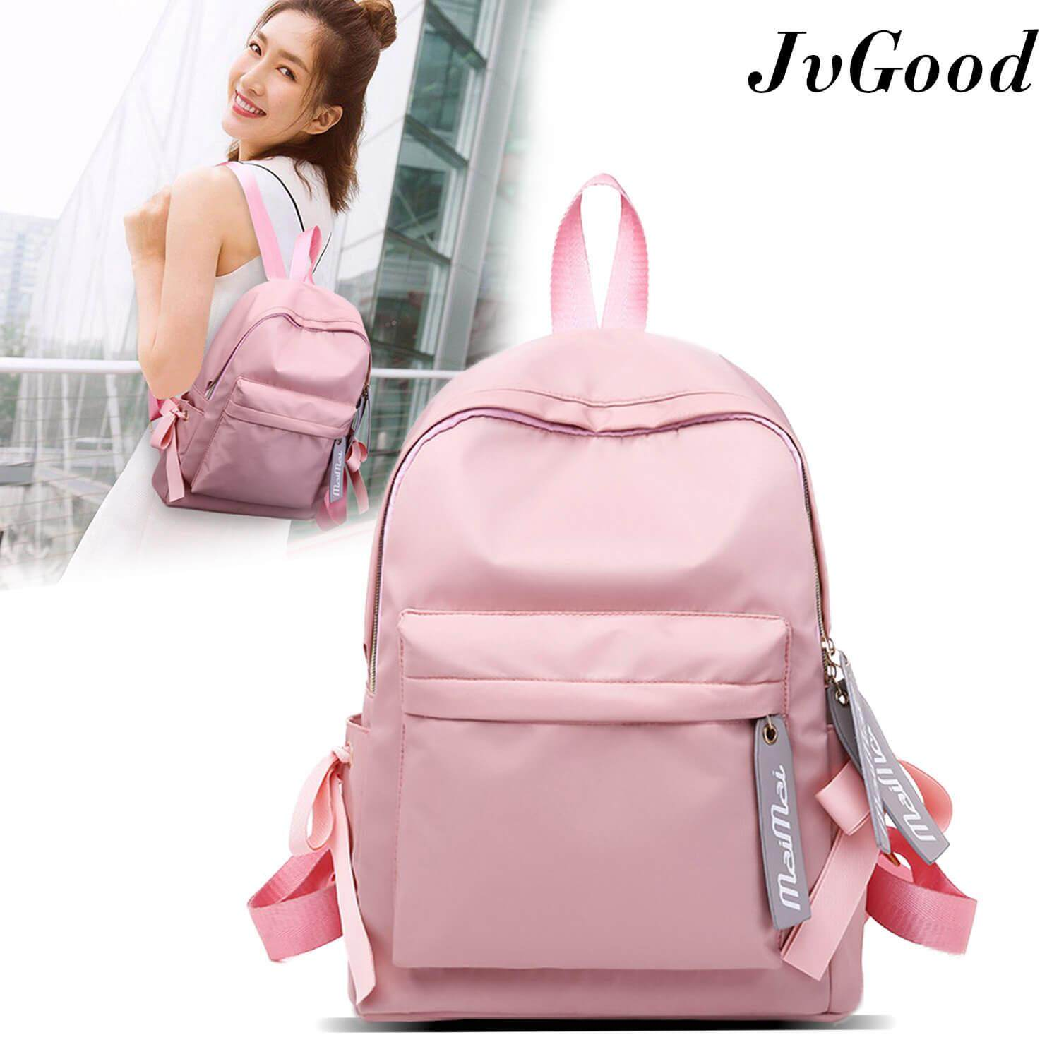 JvGood School Backpacks Shoulder Bag Backpacks College School Bookbag Laptop Computer Backpacks for Students Boys Girls Waterproof Nylon Daypack Anti-theft Bag
