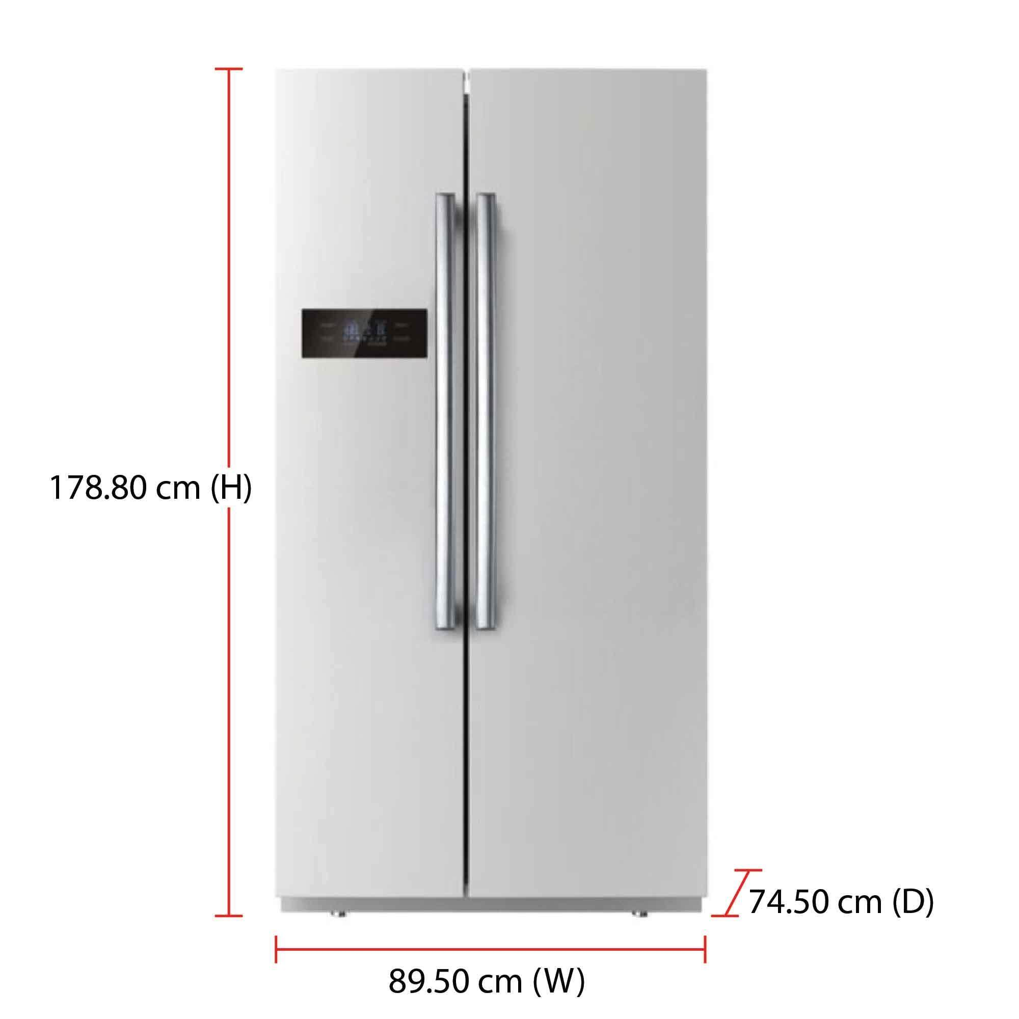 Daewoo Side By Side Fridge FPN-X580SE (525L) LED ECO Lighting