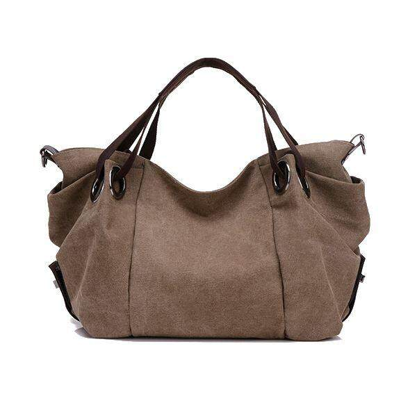 Women's Canvas Top-handle Bag Crossbody Shoulder Bag European Style(coffee)