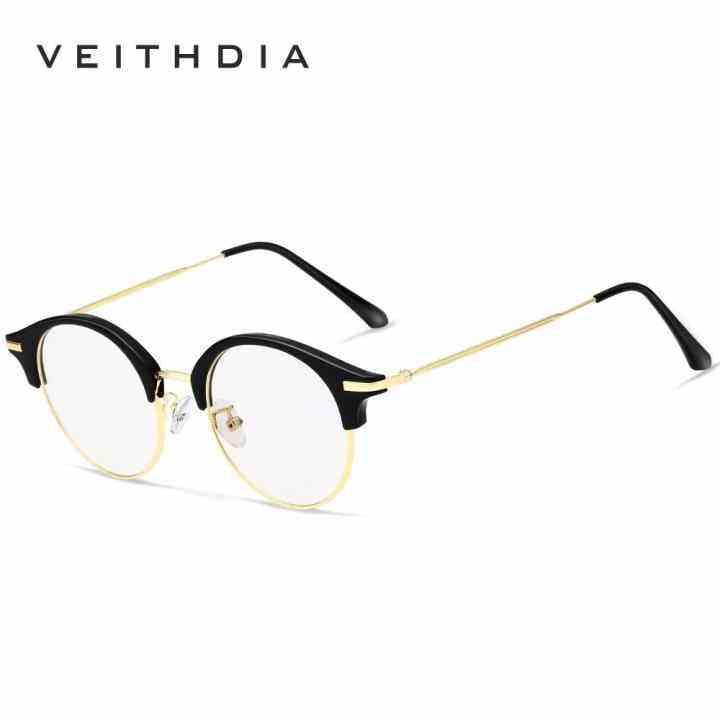 Gotime VEITHDIA Kacamata Optik Uniseks Pria Frame Kacamata Bingkai Kacamata 1230