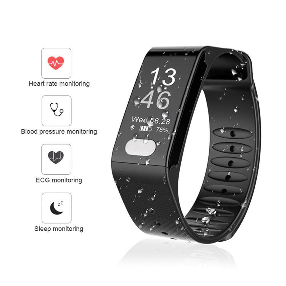 niceEshop Fitness Tracker, Activity Tracker With Pedometer Blood Pressure Heart Rate Monitor IP67 Waterproof Step Calorie Distance Tracker Call SMS SNS Remind For Men Women Kids Android IPhone