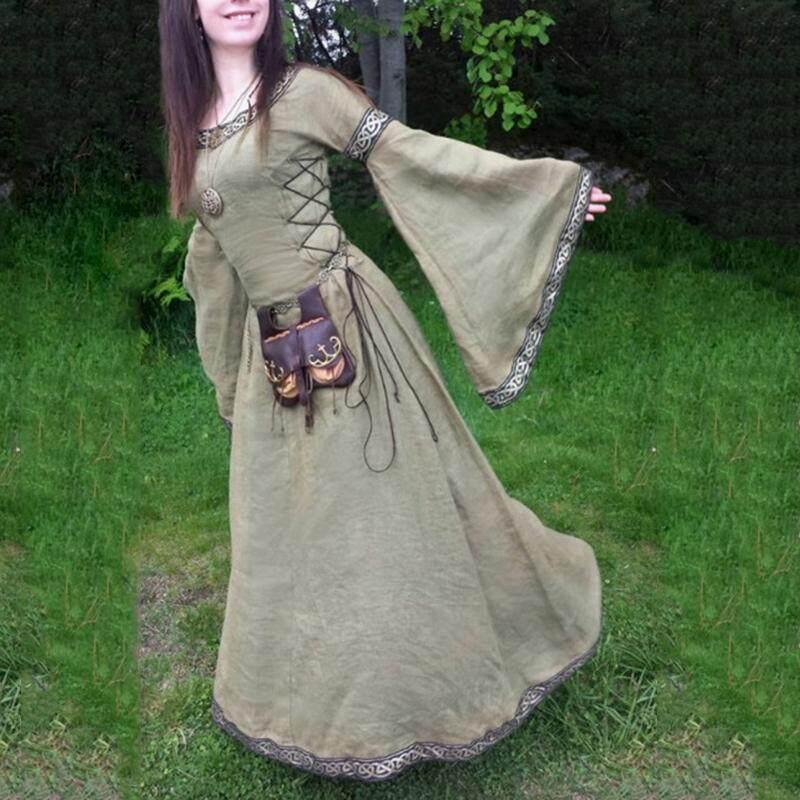 【Plus Size Party Dress】Medieval Dress Women\'s Vintage Victorian Renaissance  Gothic Costume Gown Dress