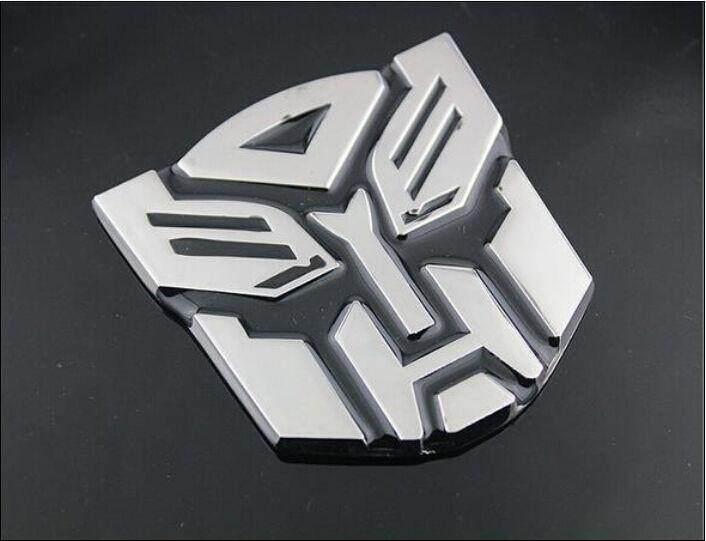 Rainbow 1pcs Alloy Transformers Autobot 3D Logo Emblem Badge Graphics Decal Car Sticker Decal - intl