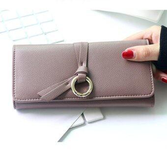 Hot Sales WoMen Folded Long Wallet Large Capability Business Phone Bag Popular Individual Hasp Purse Portable Handbag Envelope Bag(Purple)