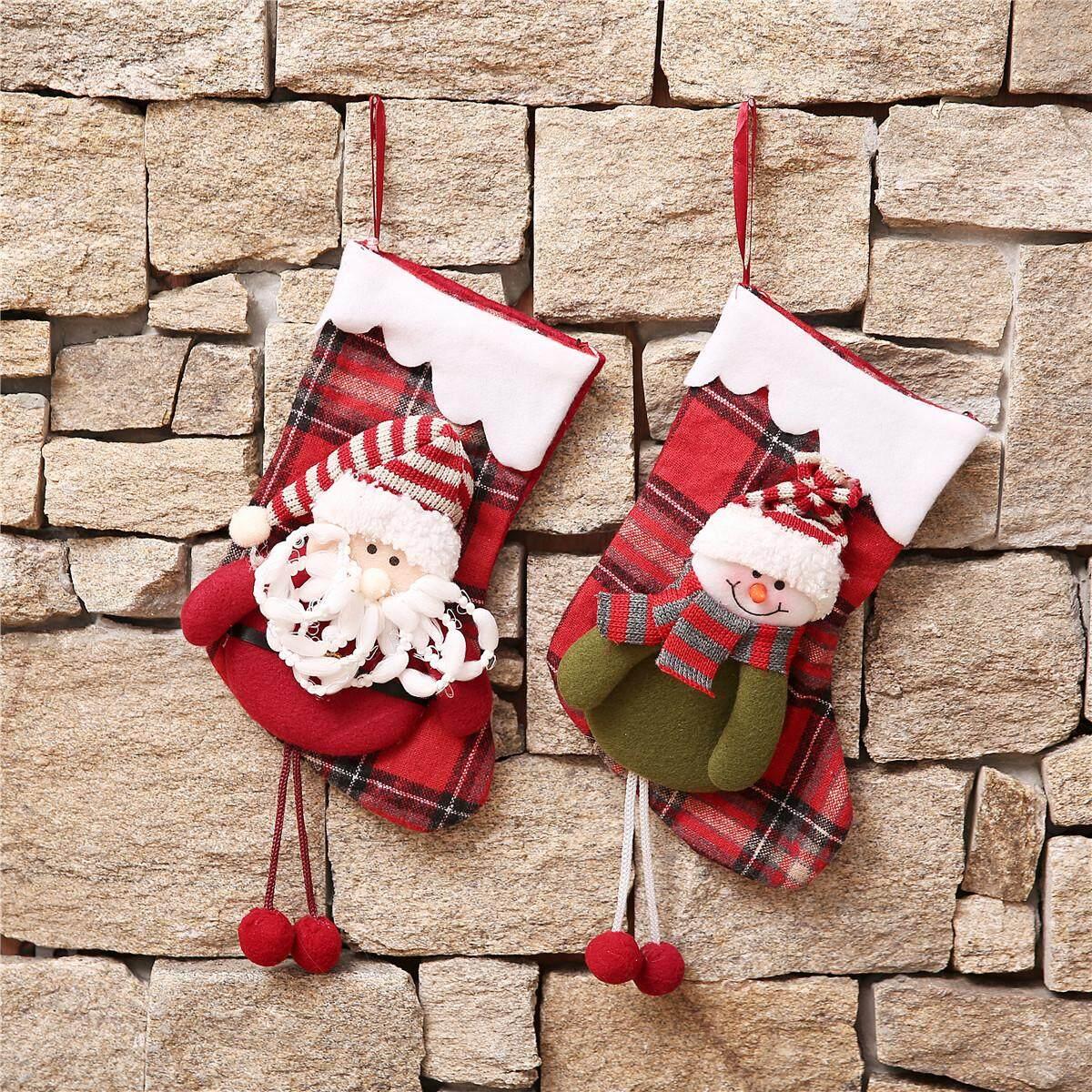 OPP Bag Packaging Santa Claus Snowman Christmas Stocking Material Elderly - intl