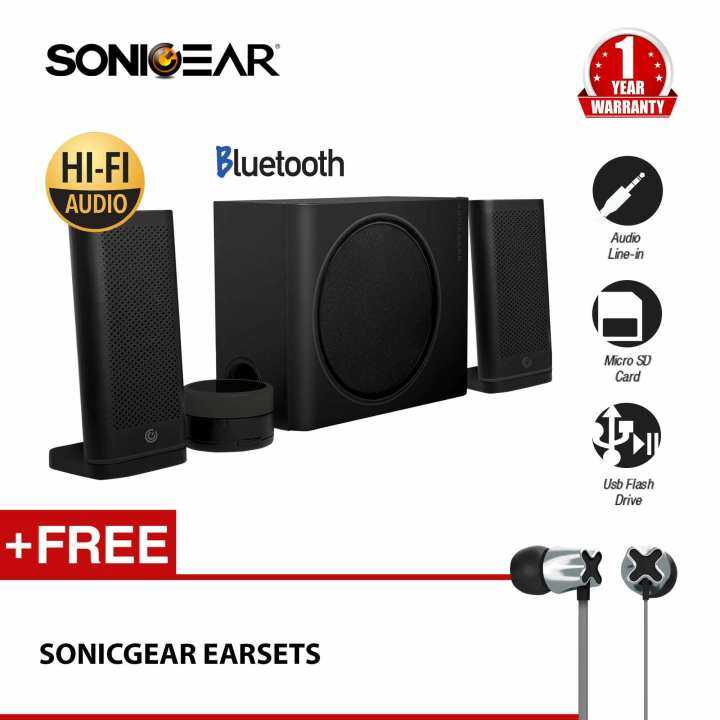 Detail Gambar SonicGear Space 5 Hi-Fi Bluetooth Speaker with TF Card/ USB Mp3 Music Playback Free Earphones Terbaru