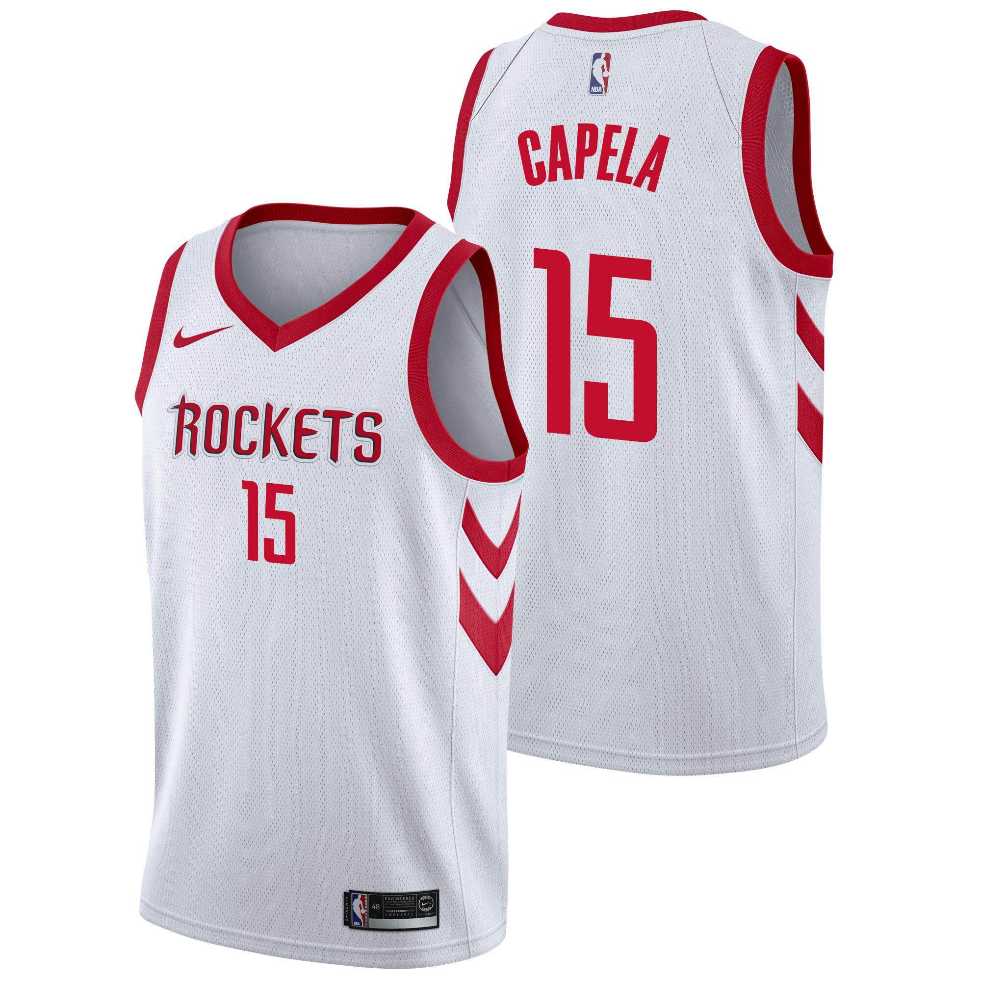 sale retailer 0b2fb 048c5 Original Nba Small Association Edition White No.15 Swingman Jersey Clint  Capela Houston Rockets For Man Basketball Clothes Chase Fashion Lightweight  ...