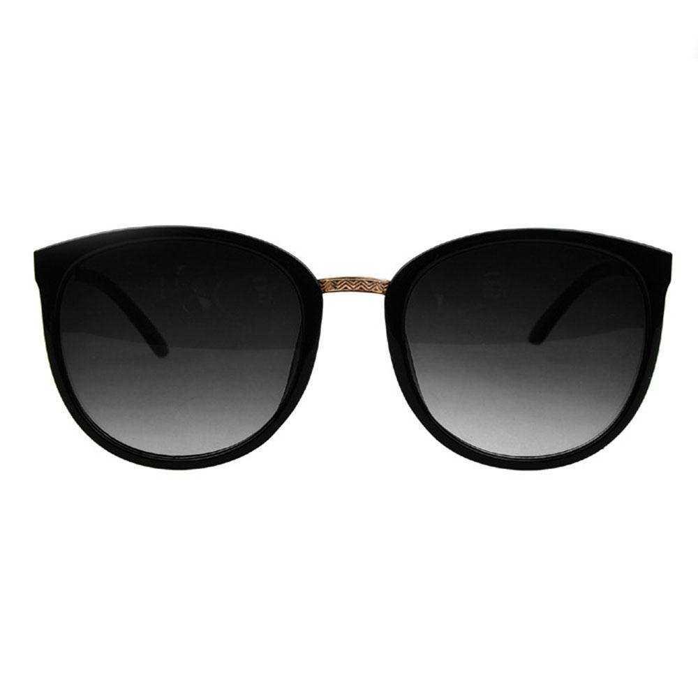 WiseBuy Womens Girls Sunglasses UV400 Protection Vintage Frame Retro Black Frame Metal