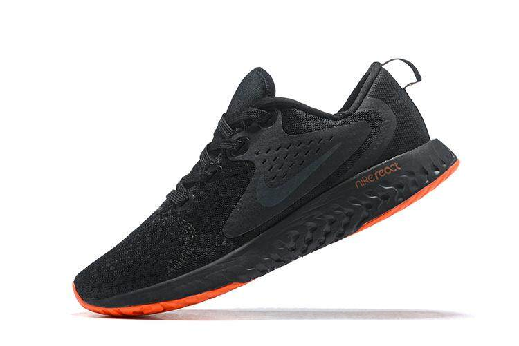 Nike Odyssey React Men s Running Shoe Lightweight Sport Sneakers (Black  Orange) cc6ed325c8