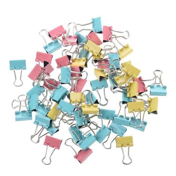 60 Assorted Office Organize 15mm Clips Mini Metal Binder