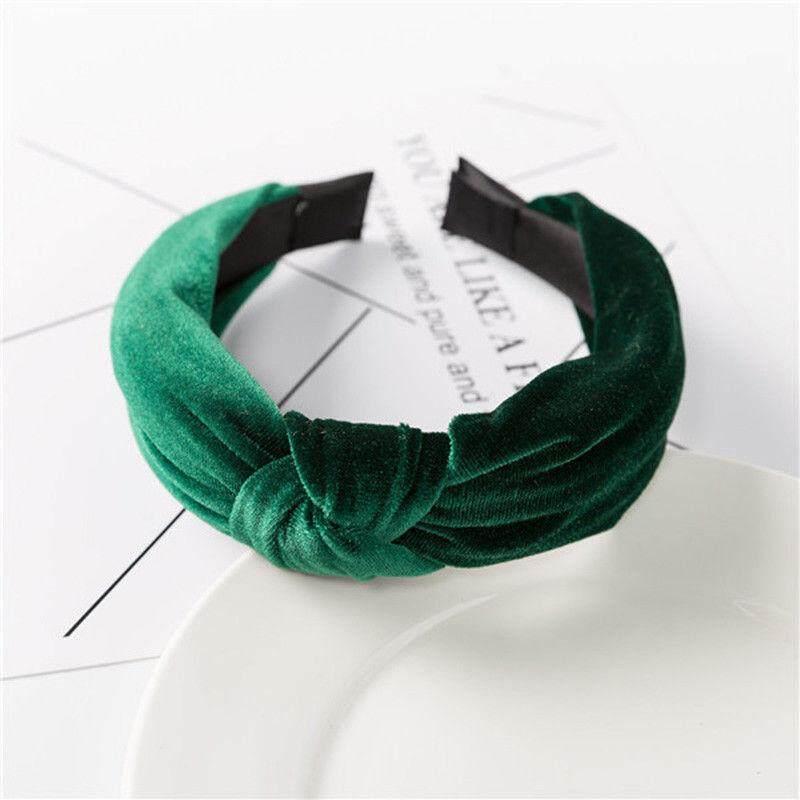 Tie Hair Band Wide Knot Women/'s Headband Pearl Hoop Fabric Accessories Hairband