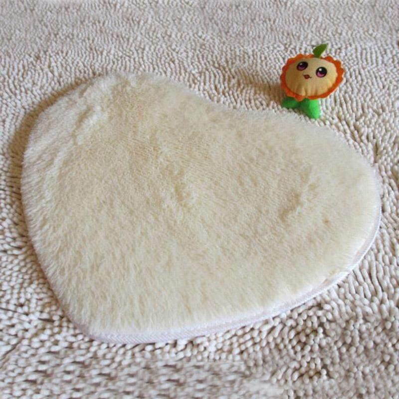 Aukey Storel Heart Shaped Rug Home Bedroom Floor Mat Bathroom Decoration Area Door