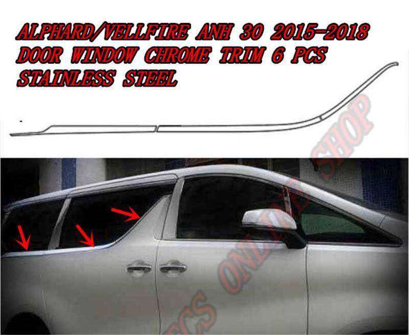 Stainless Door Window Molding Trim Exterior For Toyota Vellfire Alphard 30