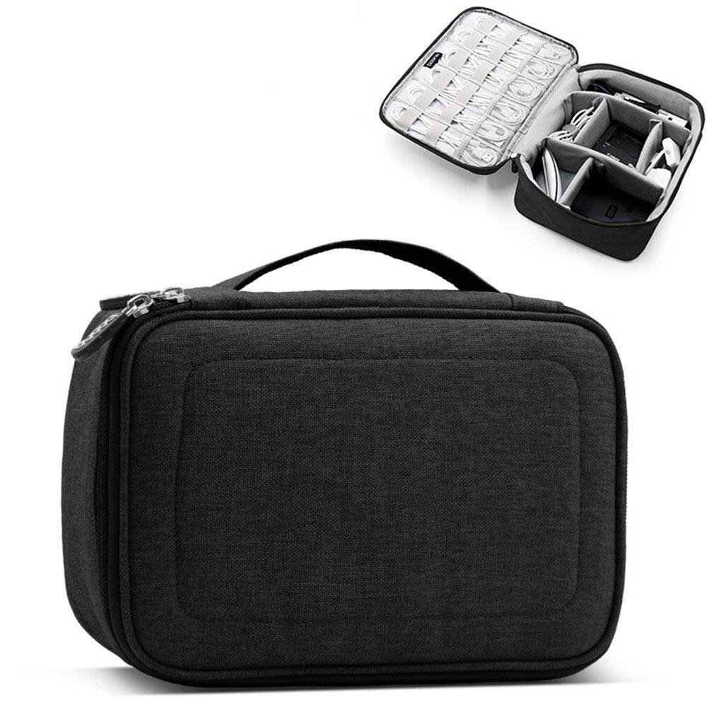 Aolvo Travel Electronic Accessories Cable Organizer Bag Portable Case SD Cards Flash Drives Wires Earphones Storage Box