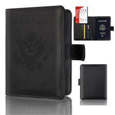 Passport Holder Wallet Cover Case RFID Blocking Travel Wallet Rose Gold #black