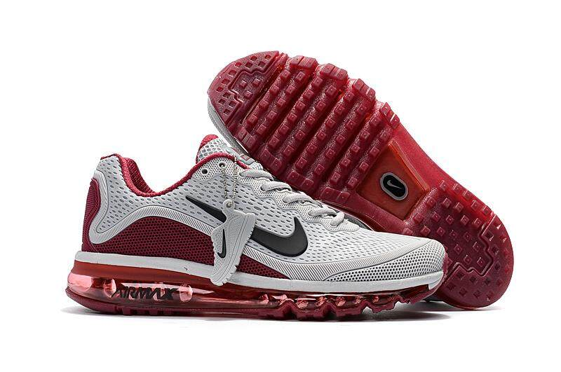 outdoor patio Cheap Nike Air Max 2018 Men Grey Wine Red
