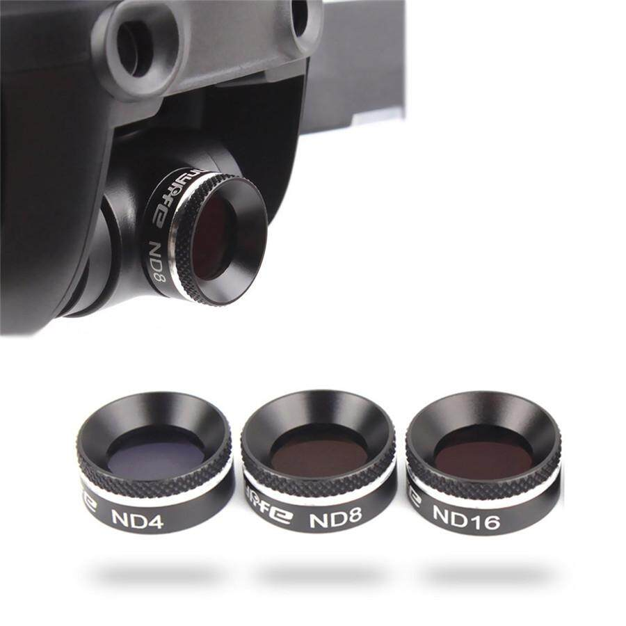 3 in 1 ND4 ND8 ND16 Filter Camera Lens Filters Aluminum Alloy with Sunhood for DJI Mavic Air Drone Accessories - intl