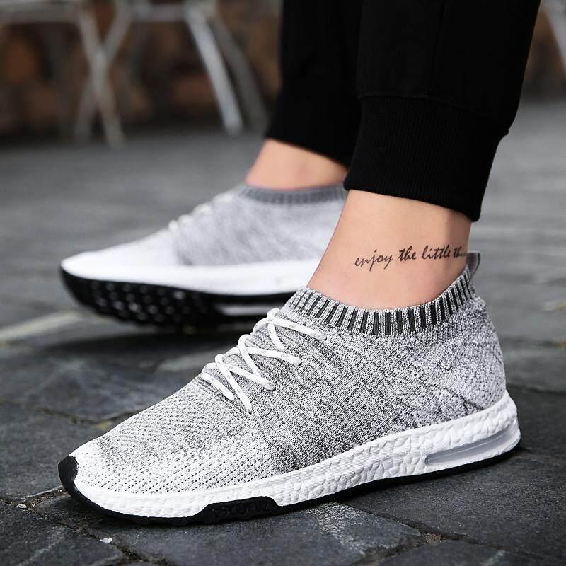 Yealon Sepatu Kasual Pria Sepatu Pria Lari Sepatu Bernapas Udara Jaring Pria  Lari Sneakers Sepatu Olahraga 4a1e40fd21
