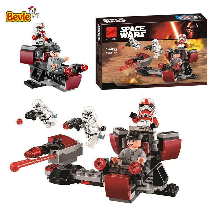 10573 133pcs Star Space Galactic Empire Battle Pack Model Building Block Bricks Compatible With 75134