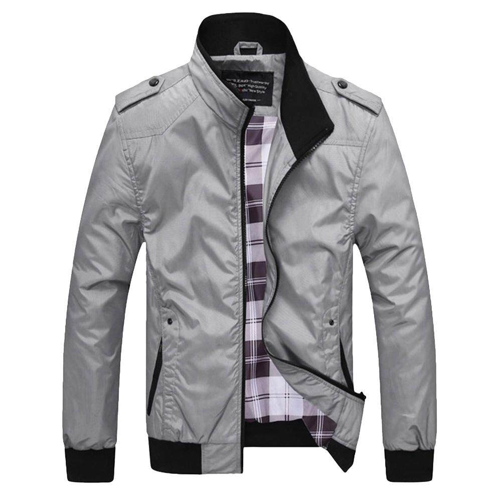 Homme Blouson Léger en Zip Col Montant Casual Manches Longues Slim Fit Jacket Veste