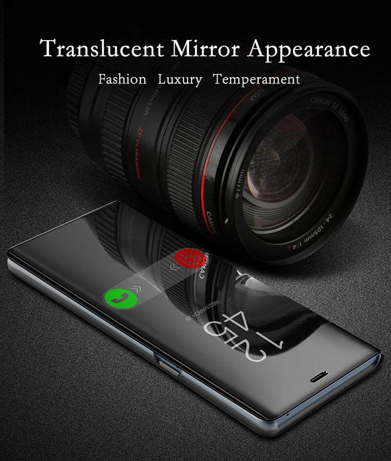 Luxury Mirror Clear View Smart Flip Case for OPPO F7 Leather Cover Casing for OPPO F7