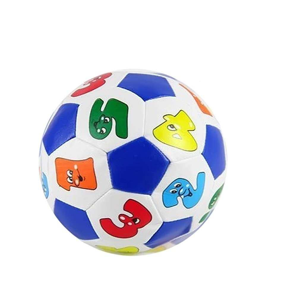 Baby Child Kid Early Education Football Toys Rubber Number Color Ringing Learning Ball Random