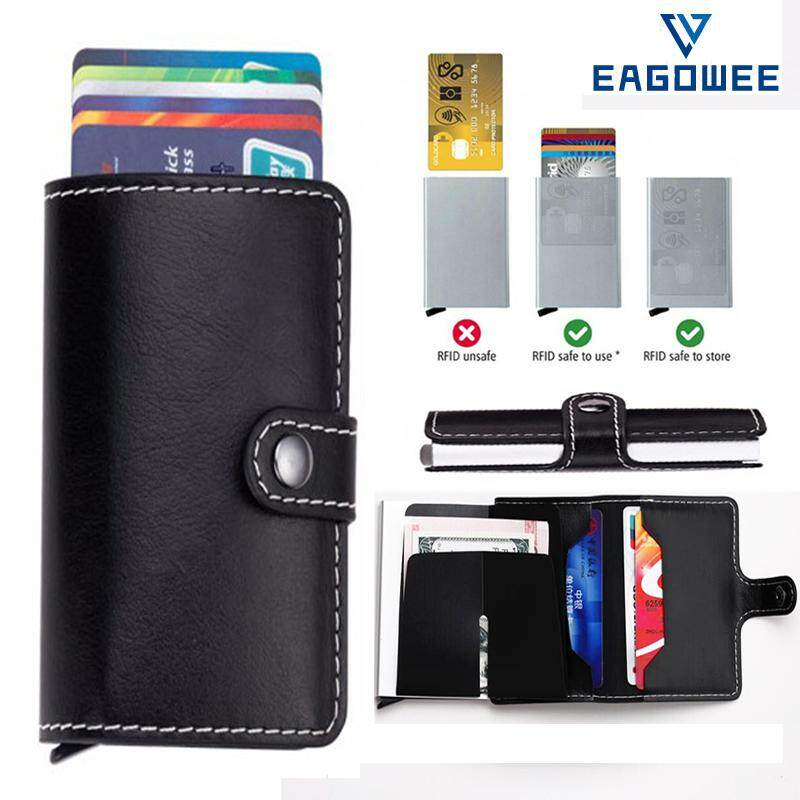 087e8c36bc33 EAGOWEE Anti-theft RFID EDC Credit Card Holder Bag Case Slim Money ...