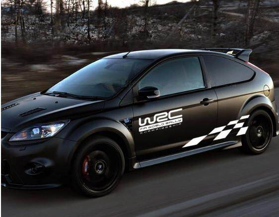 OS Black White Grid Totem Decals Car Stickers Full Body Car Styling Vinyl Decal Sticker for Cars Decoration