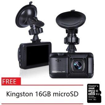 D101 3.0 inch WDR Full HD 1080P Car Recorder Night Vision Car Camera FREE Kingston 16GB microSD