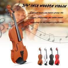 Bộ Đàn Violin Bằng Gỗ Tự Nhiên Cho Học Sinh Mới Bắt Đầu 3/4 Với Trường Hợp Bow Cầu Mới