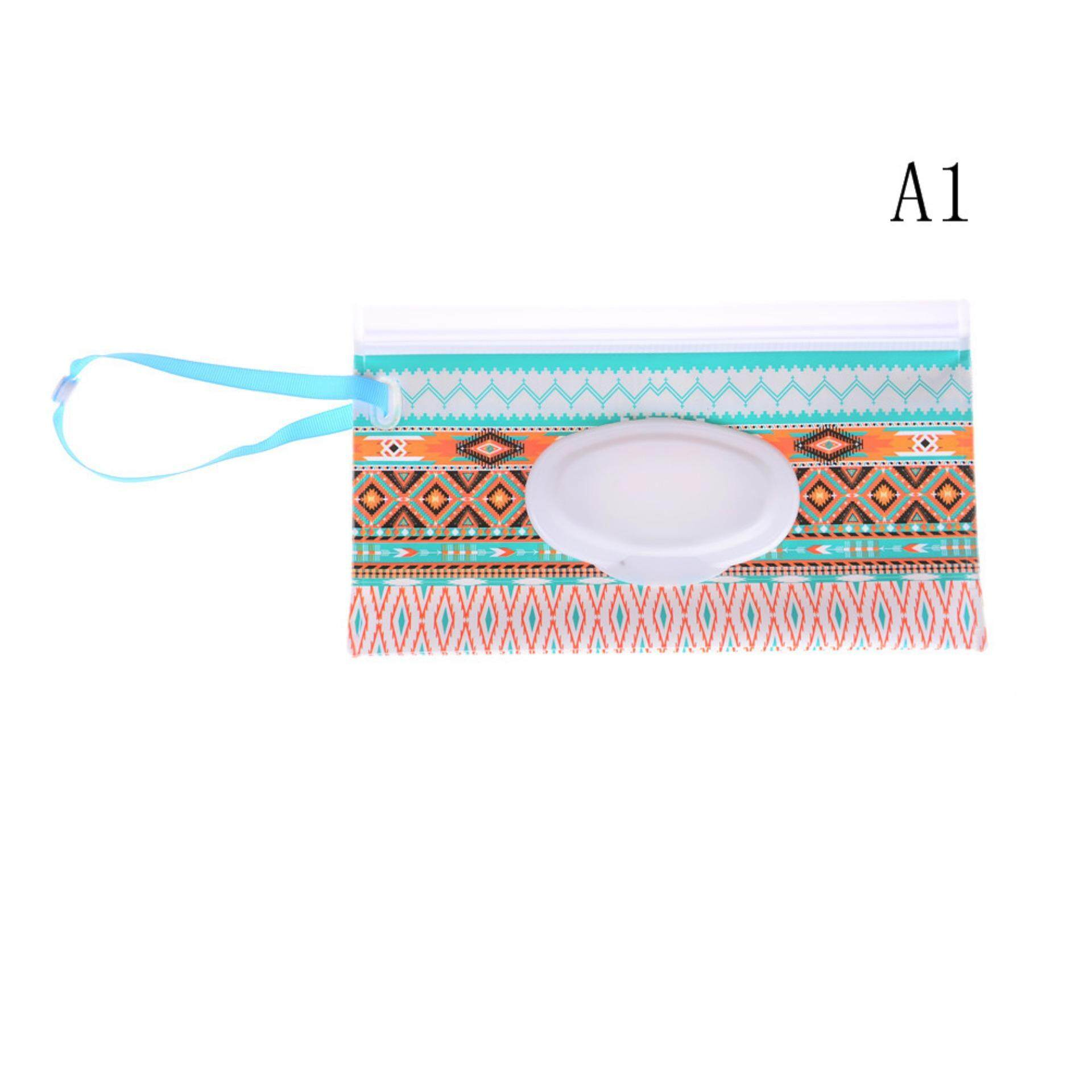 Imported From Abroad Eco-friendly Wet Wipes Bag Clamshell Cosmetic Pouch Clutch And Clean Easy-carry Snap-strap Wipes Container Wipes Carrying Case Available In Various Designs And Specifications For Your Selection Changing Pads & Covers Baby Care