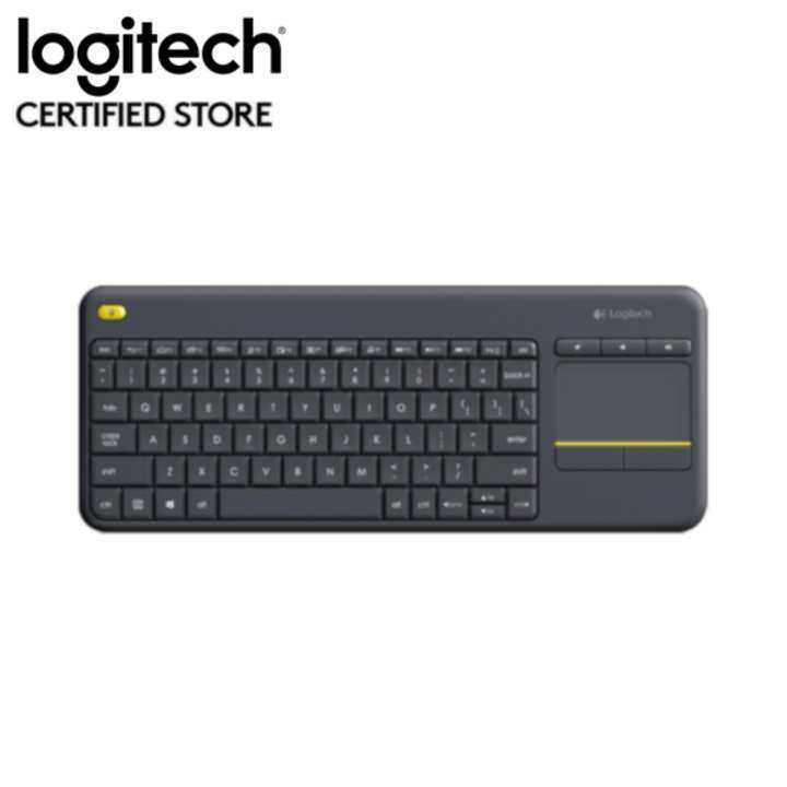 logitech k400 plus wireless touch keyboard black lazada. Black Bedroom Furniture Sets. Home Design Ideas
