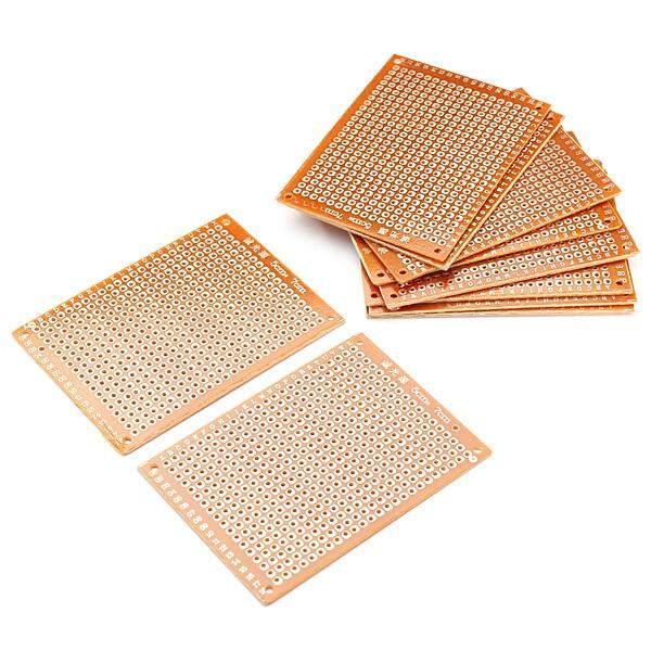 10 cái Trống PCB Bo Mạch Đa Năng DIY Phototype Ban Mặt Đơn
