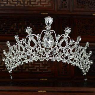 Vương miện cho dâu đính đá pha lê trang sức dự tiệc - INTL thumbnail