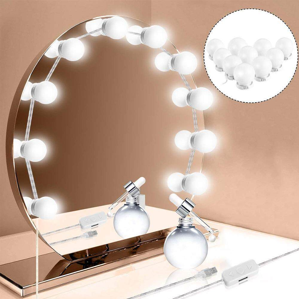 Kissy Barbie Hollywood Style Led Vanity Mirror Lights Kit With Dimmable Light Bulbs Diy String Lights For Makeup Vanity Table Set In Dressing Room Mirror Not Included Lazada Singapore