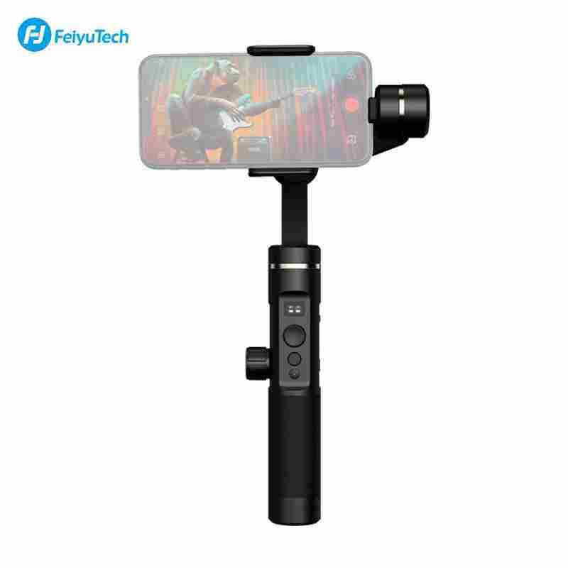 Allrise Feiyu Tech SPG2 3-Axis Stabilized Gimbal Genggam Anti-percikan Stabilizer dengan Tripod untuk iPhone X/8/7/6 untuk samsung GALAXY S9 GoPro Telepon Pintar 7/6/5/4 Olahraga Kamera