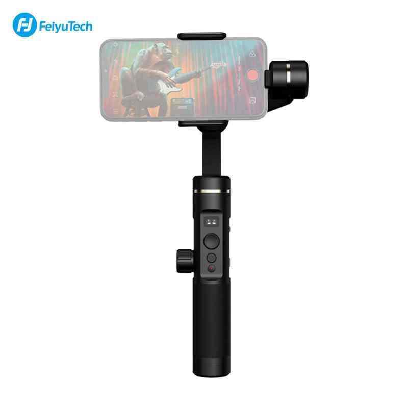 Nicetech Feiyu Tech SPG2 3-Axis Stabilized Gimbal Genggam Anti-percikan Stabilizer dengan Tripod untuk iPhone X/8/7/6 untuk samsung GALAXY S9 GoPro Telepon Pintar 7/6/5/4 Olahraga Kamera
