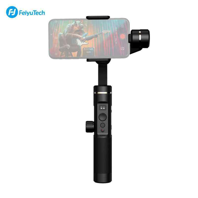 Finemall Feiyu Tech SPG2 3-Axis Stabilized Gimbal Genggam Anti-percikan Stabilizer dengan Tripod untuk iPhone X/8/7/6 untuk samsung GALAXY S9 GoPro Telepon Pintar 7/6/5/4 Olahraga Kamera